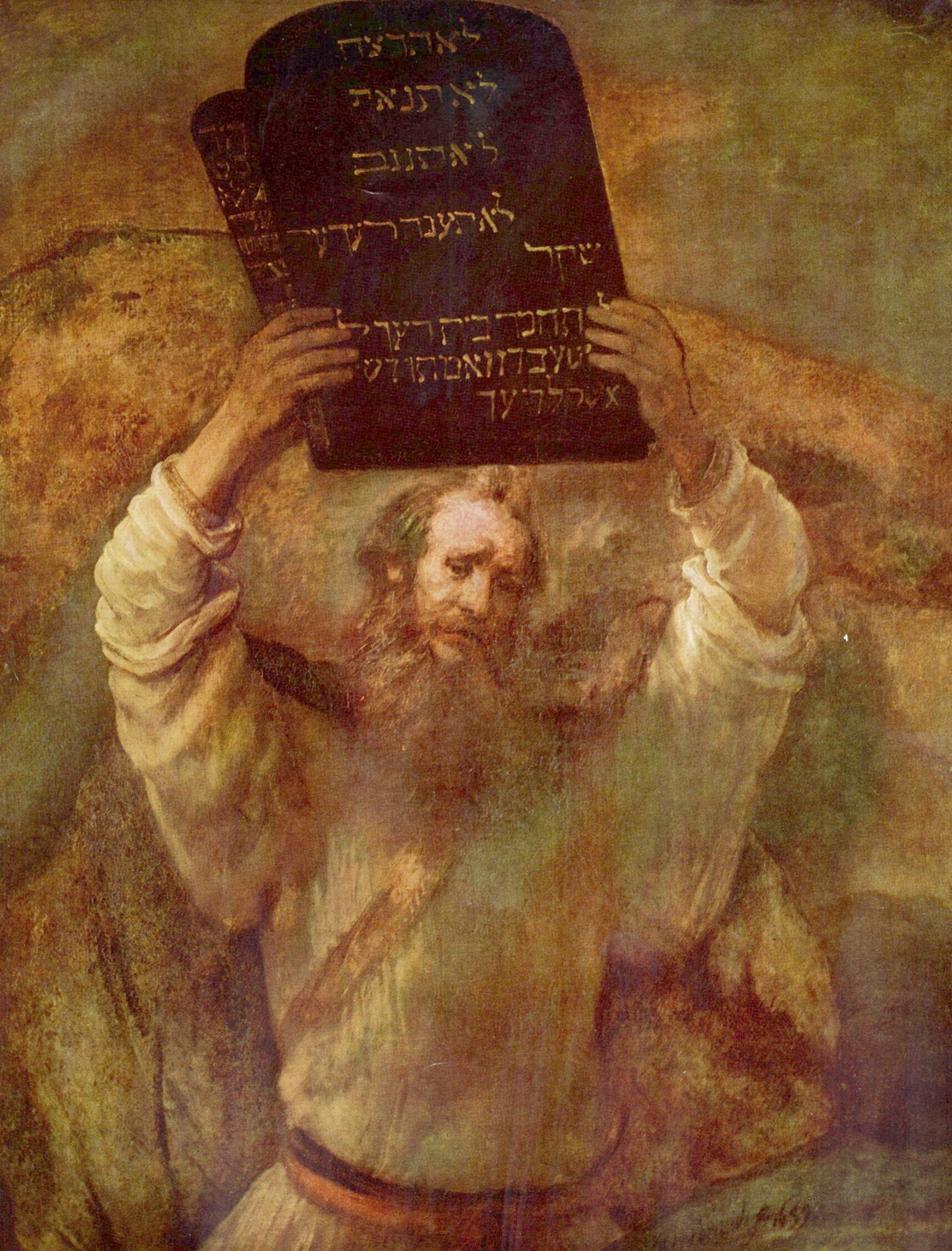Moses with the Tablets of the Law, Rembrandt van Rijn